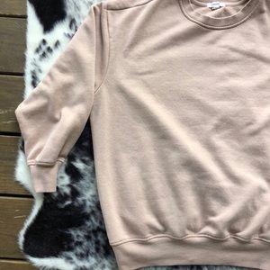 Garage Boyfriend Fit Beige Sweater